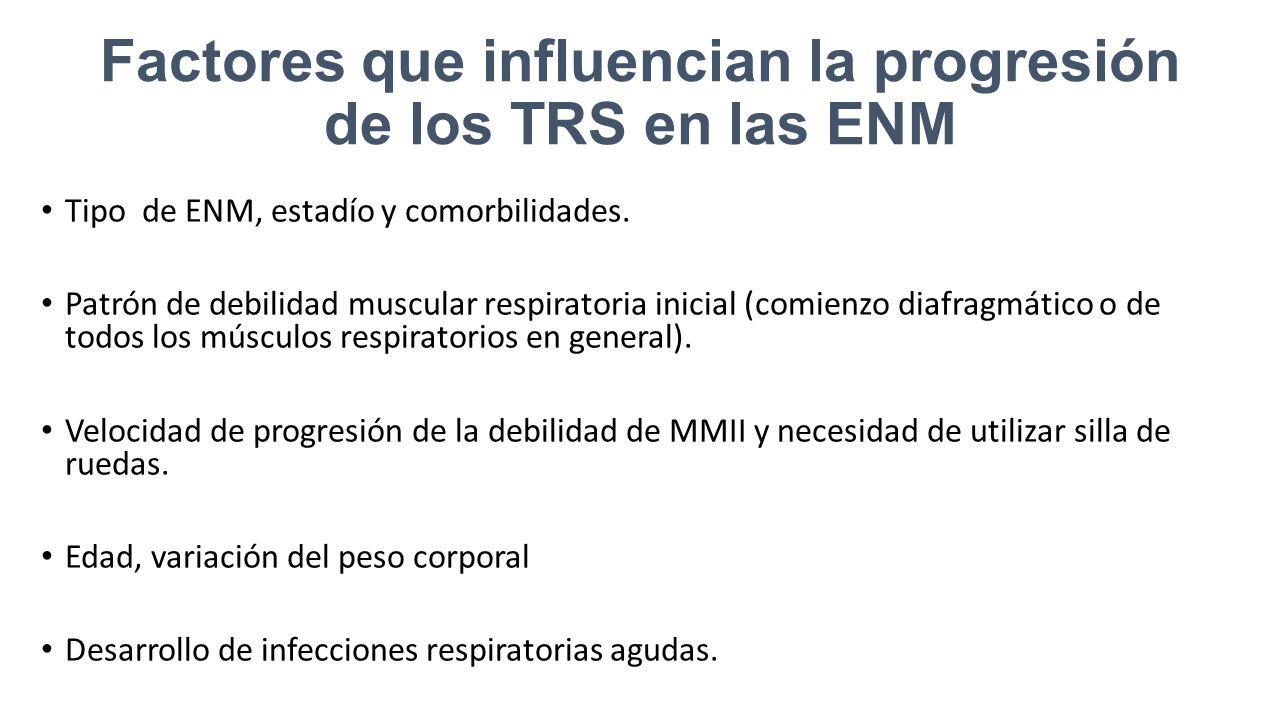 Factores que influencian la progresión de los TRS en las ENM