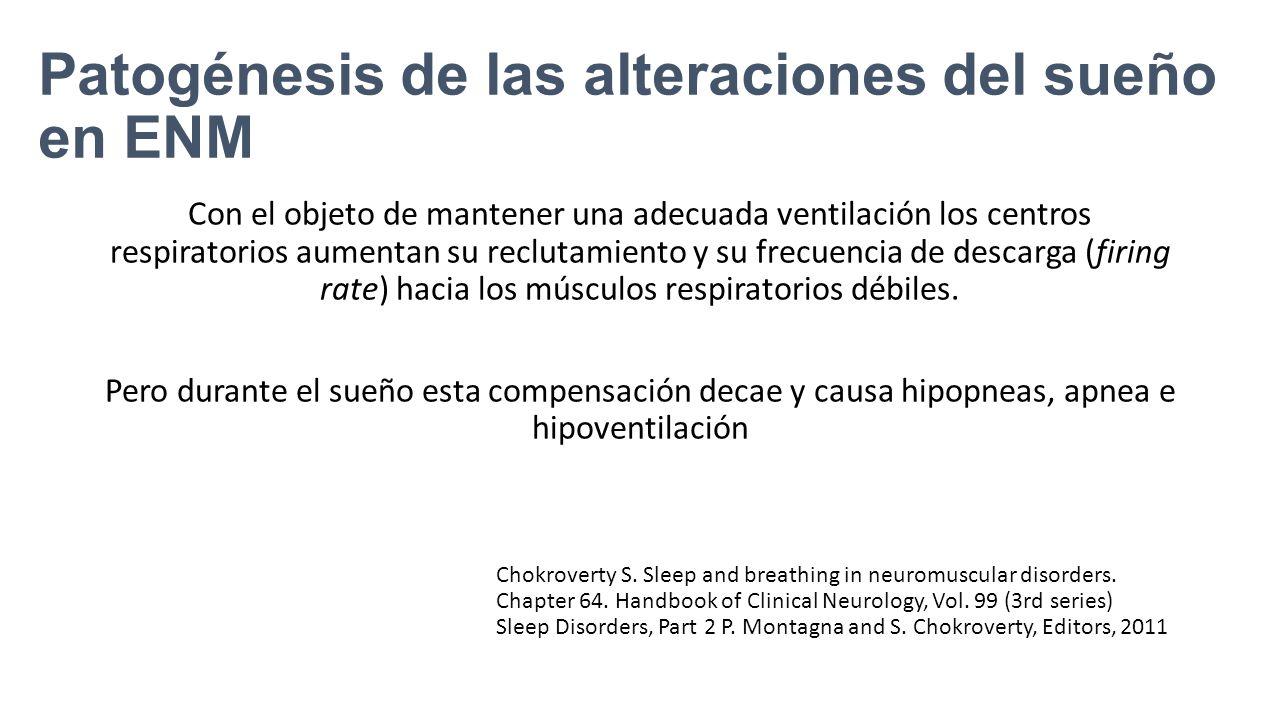 Patogénesis de las alteraciones del sueño en ENM