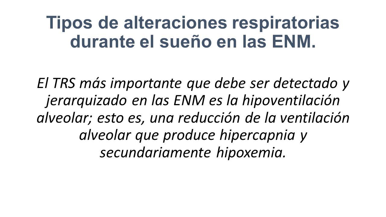Tipos de alteraciones respiratorias durante el sueño en las ENM.