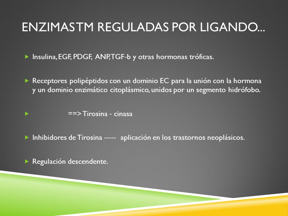 Enzimas tm reguladas por ligando...