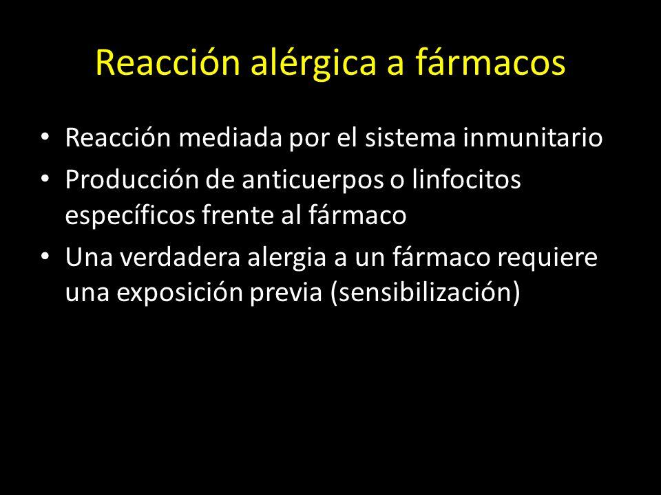 Reacción alérgica a fármacos