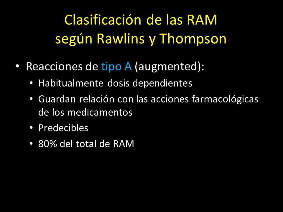 Clasificación de las RAM según Rawlins y Thompson