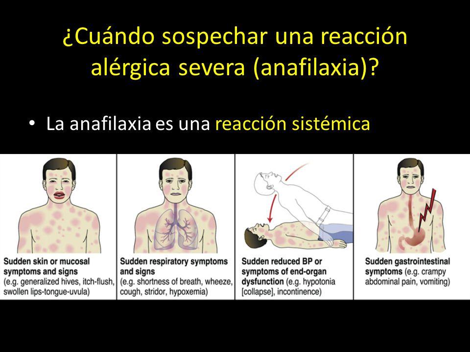 ¿Cuándo sospechar una reacción alérgica severa (anafilaxia)