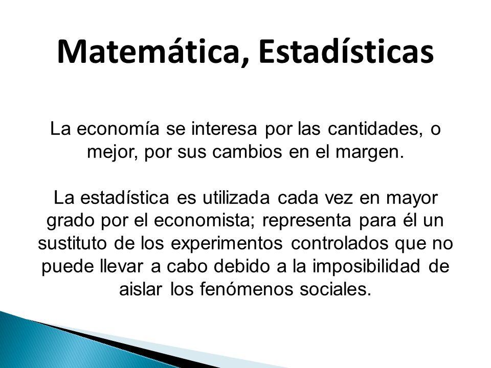 Matemática, Estadísticas