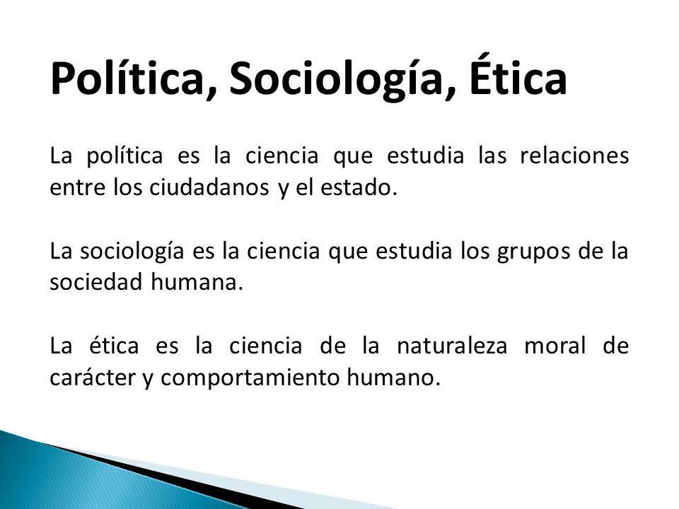 Política, Sociología, Ética