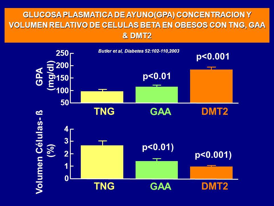 TNG GAA DMT2 TNG GAA DMT2 p<0.001 (mg/dl) GPA p<0.01