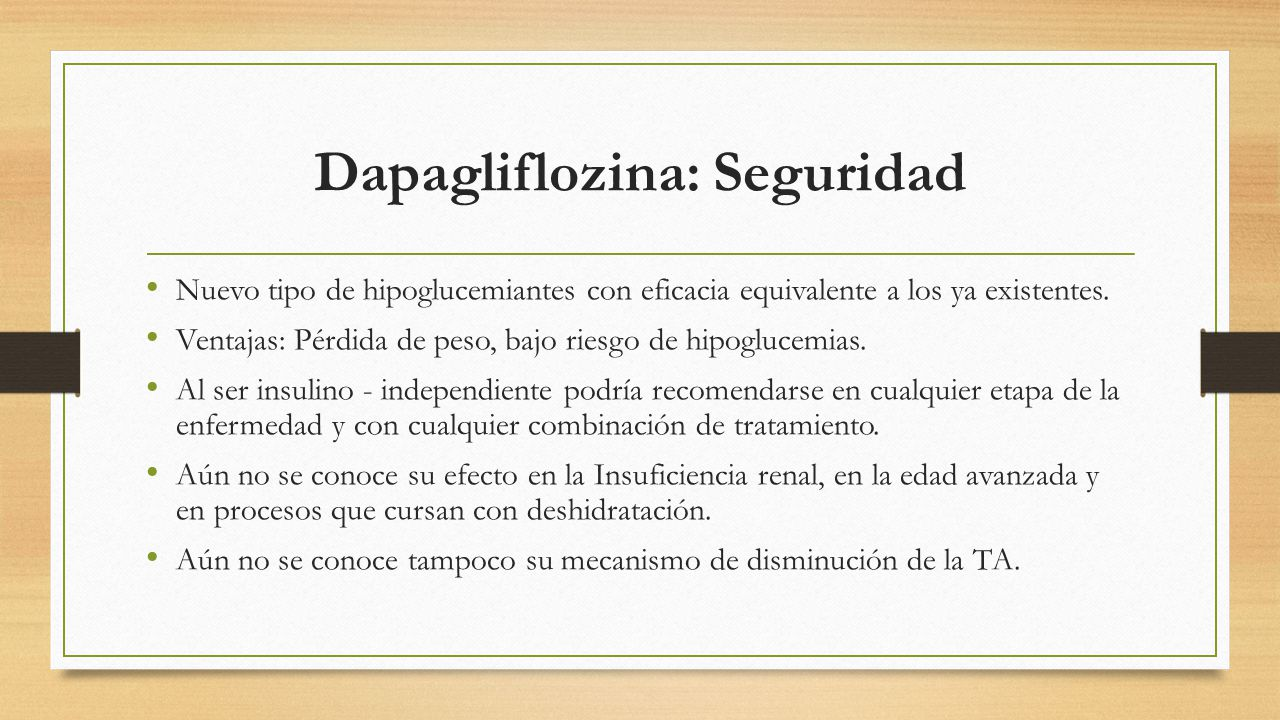 Dapagliflozina: Seguridad