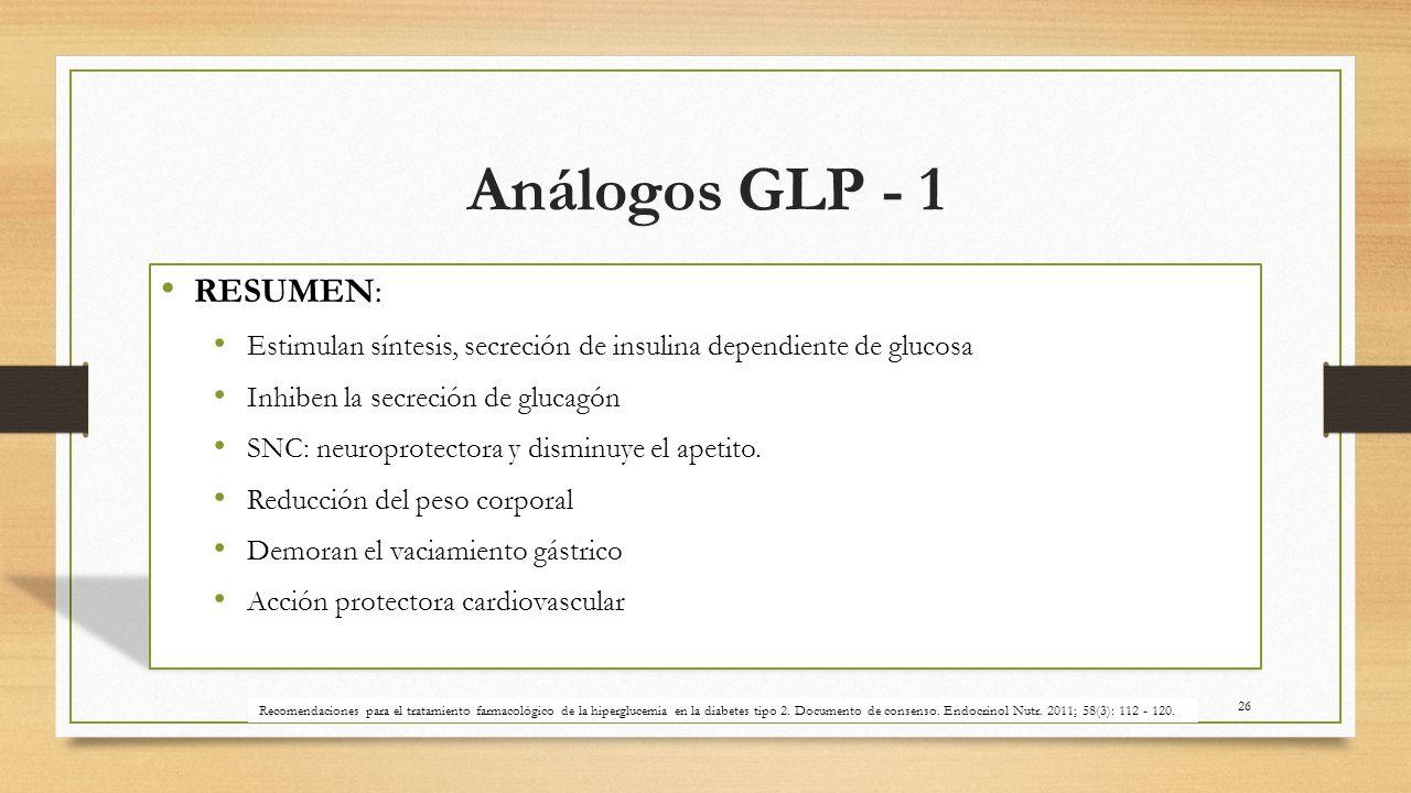 Análogos GLP - 1 RESUMEN: