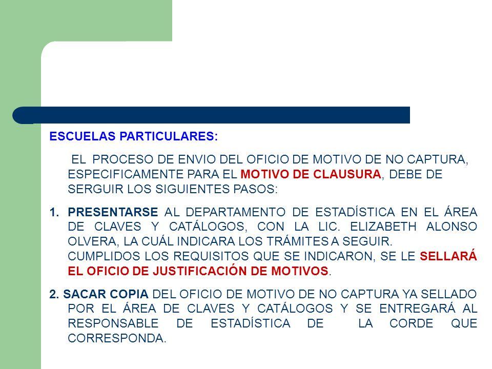 ESCUELAS PARTICULARES:
