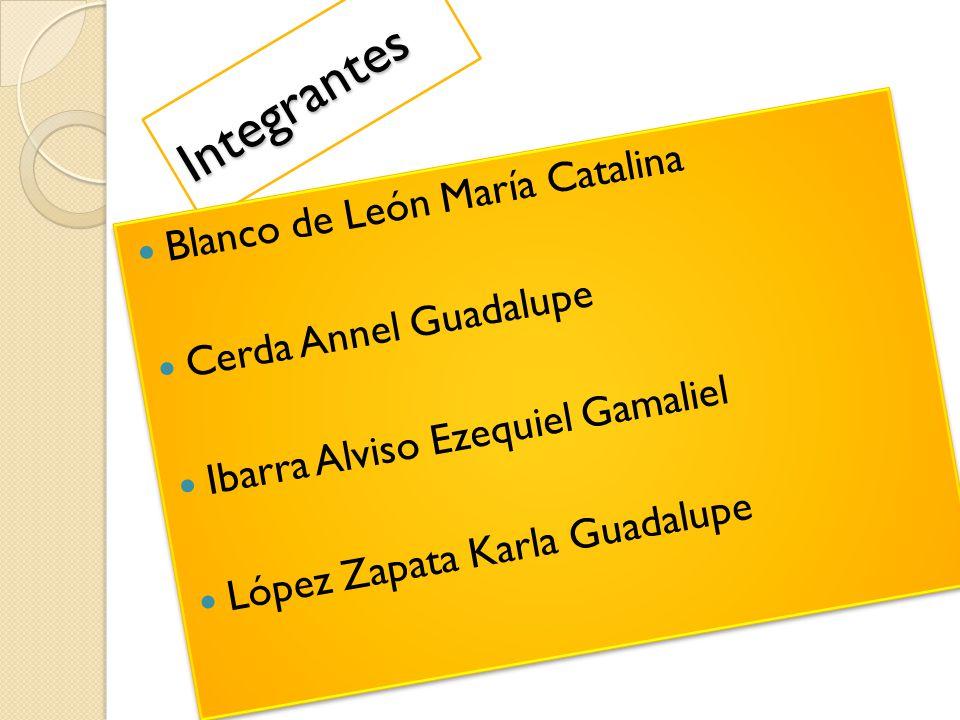 Integrantes Blanco de León María Catalina Cerda Annel Guadalupe
