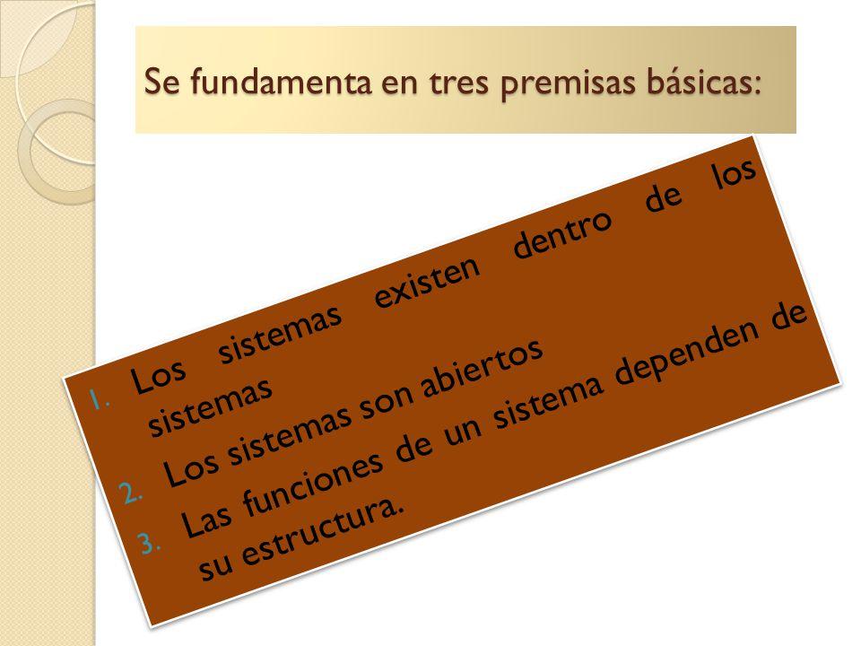 Se fundamenta en tres premisas básicas: