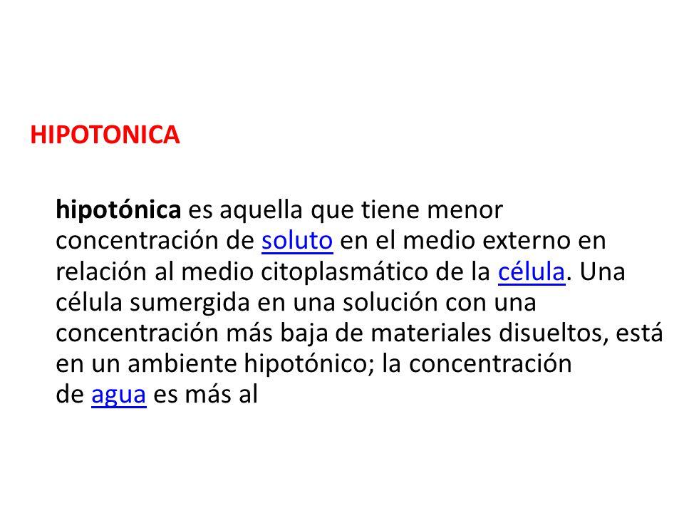 HIPOTONICA