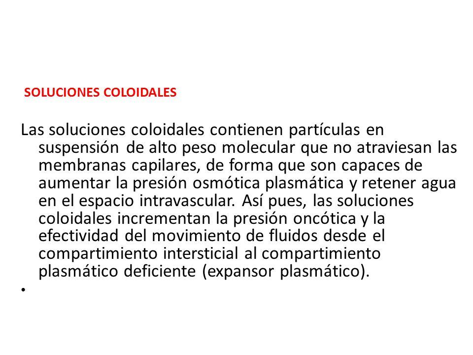 SOLUCIONES COLOIDALES.