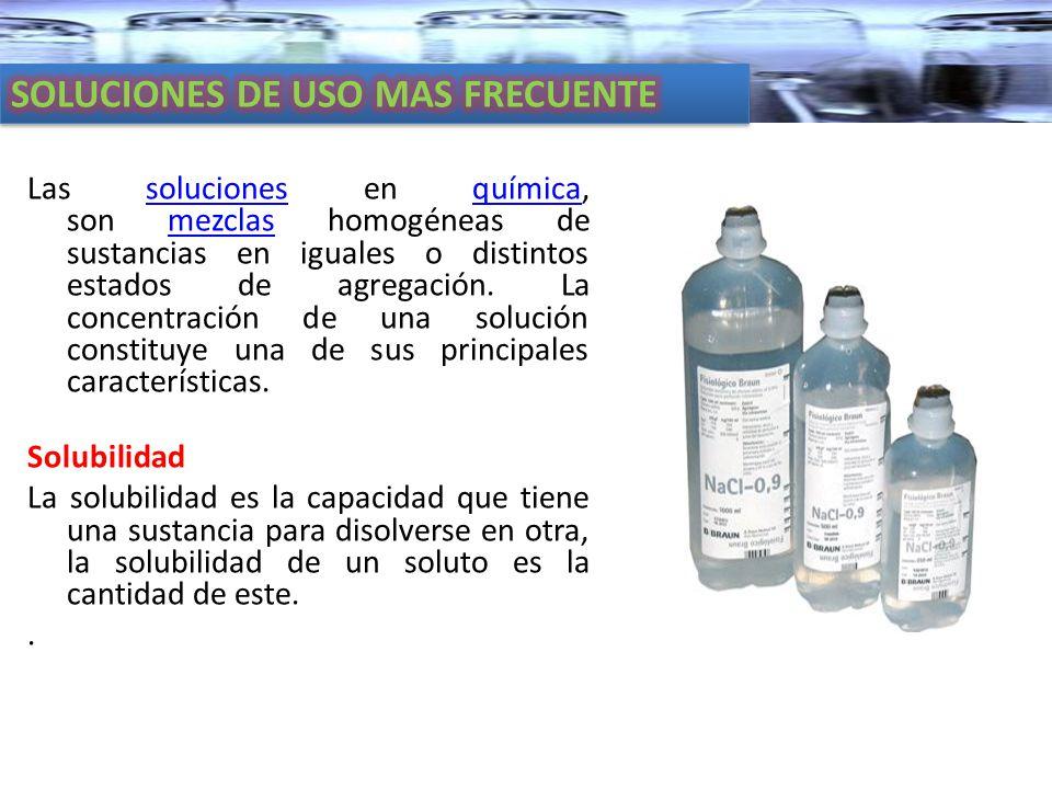 SOLUCIONES DE USO MAS FRECUENTE