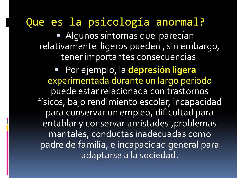 Que es la psicología anormal