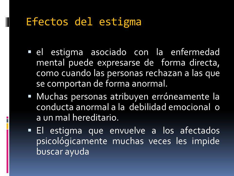 Efectos del estigma
