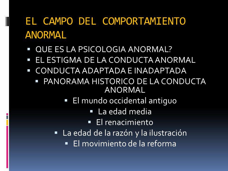 EL CAMPO DEL COMPORTAMIENTO ANORMAL