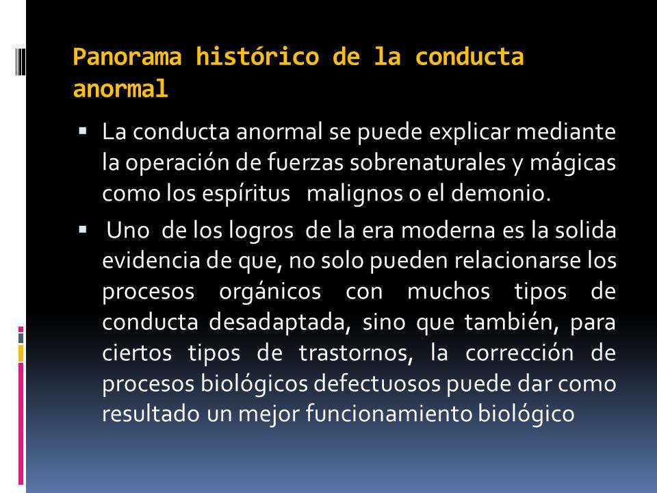 Panorama histórico de la conducta anormal