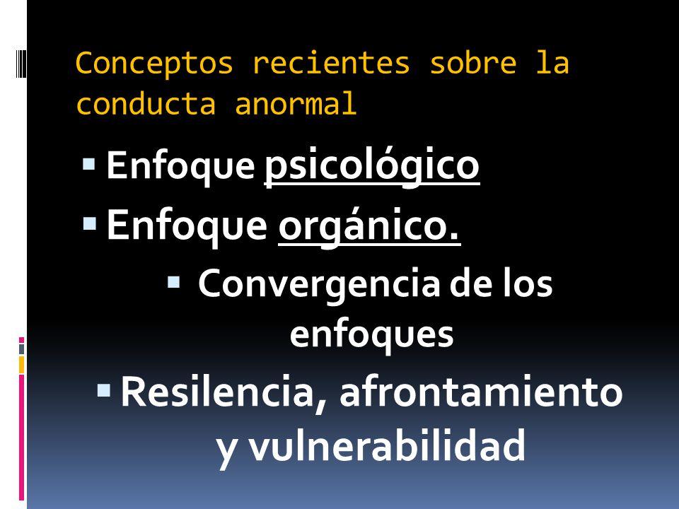 Conceptos recientes sobre la conducta anormal