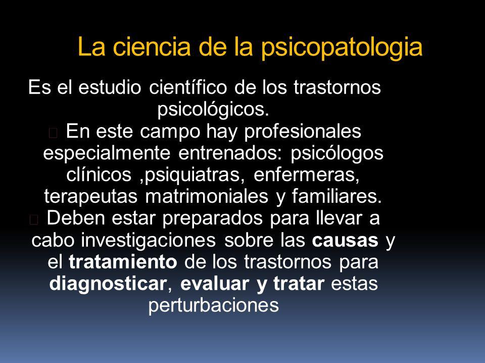 La ciencia de la psicopatologia