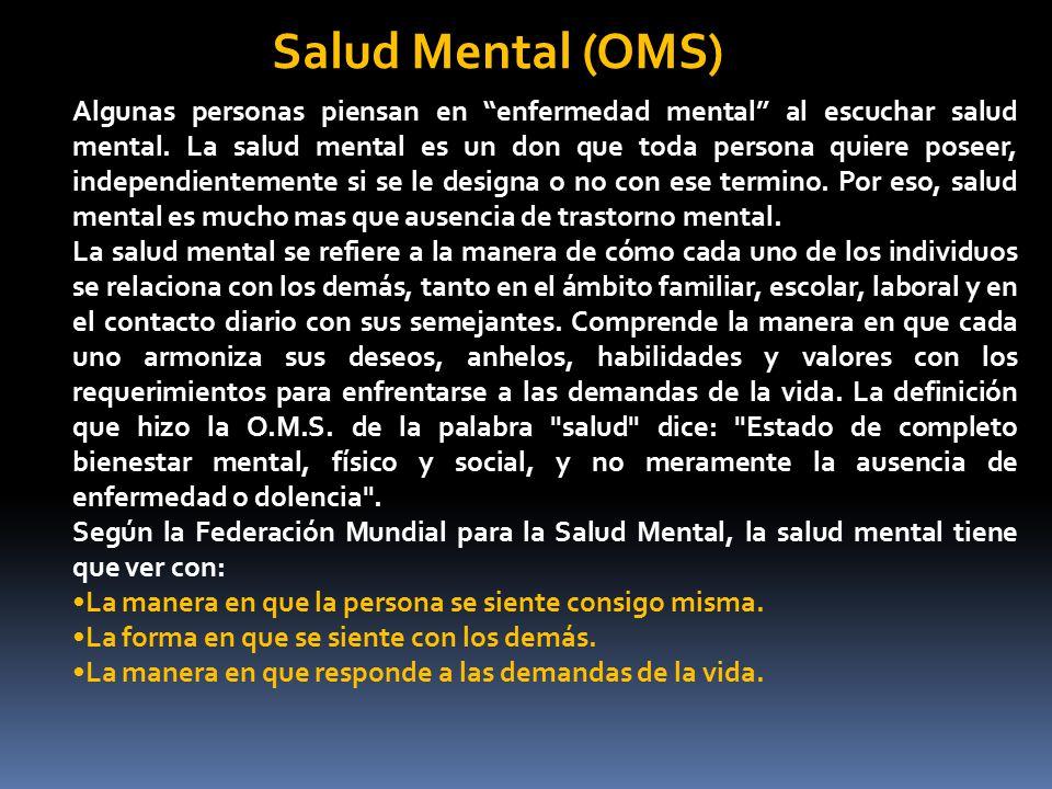 Salud Mental (OMS)