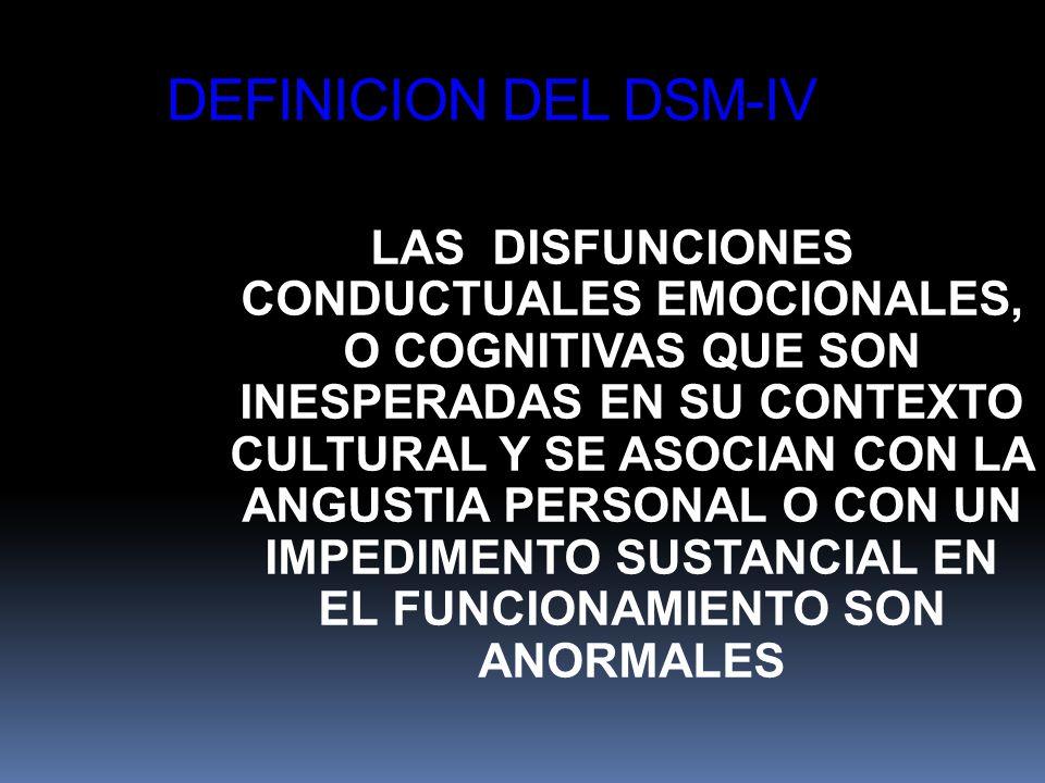 DEFINICION DEL DSM-IV