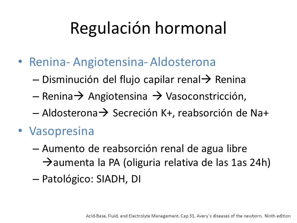Regulación hormonal Renina- Angiotensina- Aldosterona Vasopresina