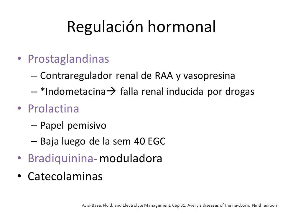 Regulación hormonal Prostaglandinas Prolactina