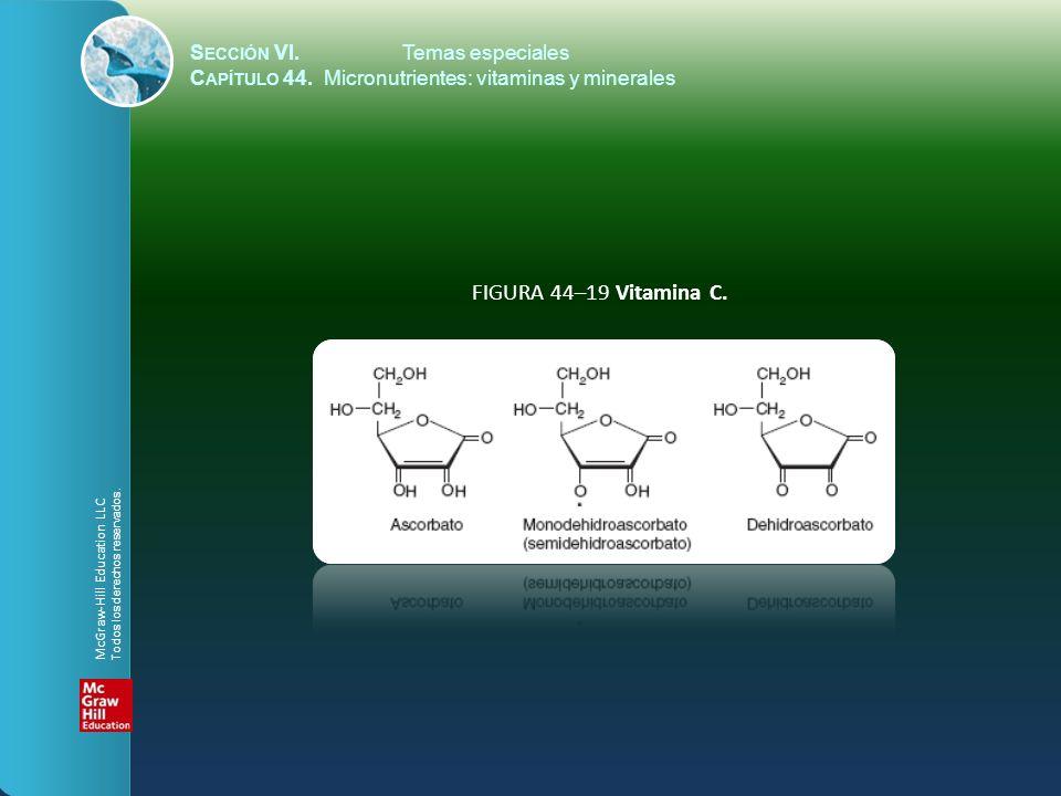 FIGURA 44–19 Vitamina C. Sección VI. Temas especiales
