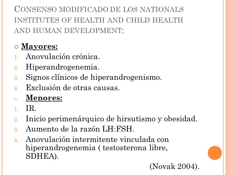 Consenso modificado de los nationals institutes of health and child health and human development: