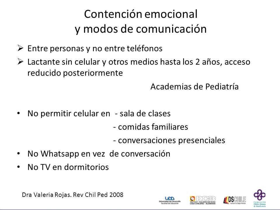 Contención emocional y modos de comunicación