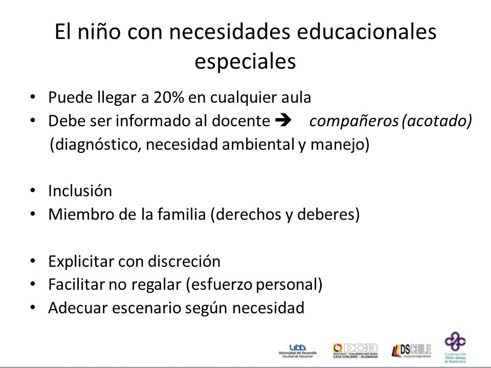El niño con necesidades educacionales especiales