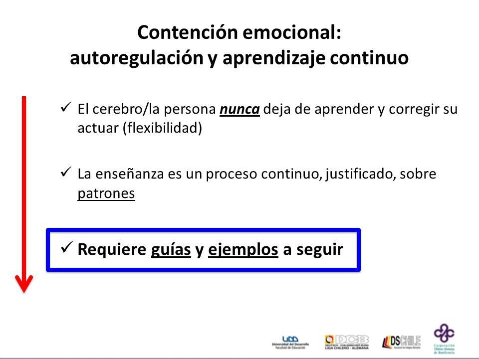 Contención emocional: autoregulación y aprendizaje continuo