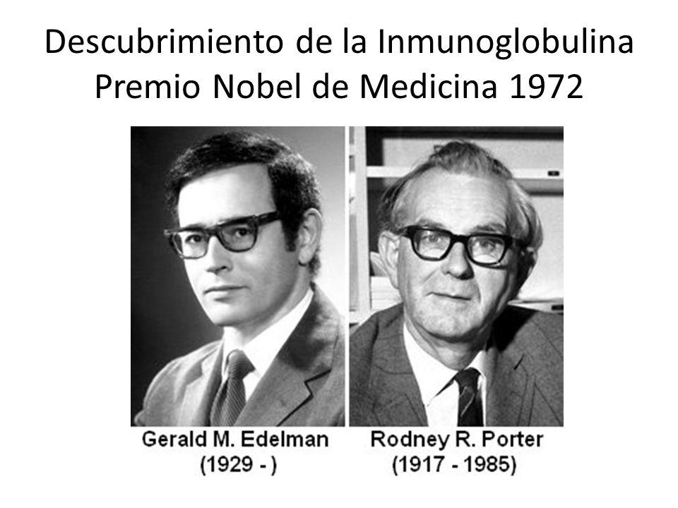 Descubrimiento de la Inmunoglobulina Premio Nobel de Medicina 1972