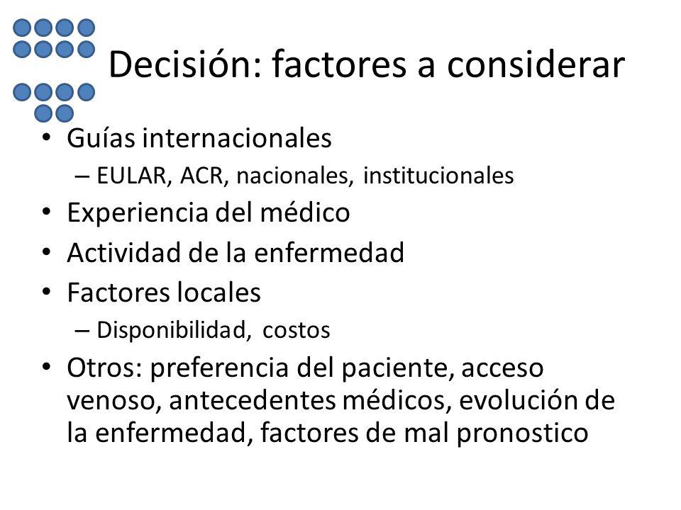 Decisión: factores a considerar