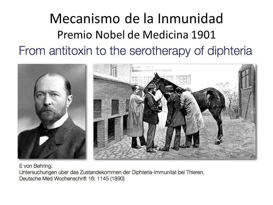 Mecanismo de la Inmunidad Premio Nobel de Medicina 1901