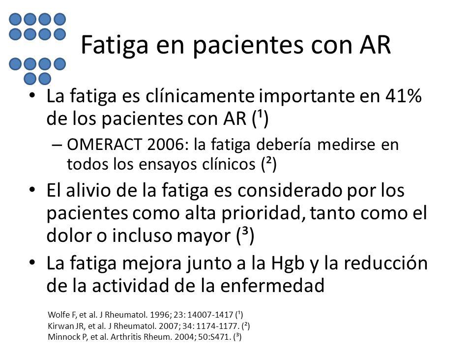 Fatiga en pacientes con AR