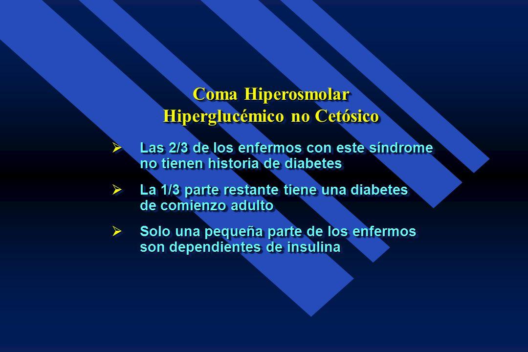 Coma Hiperosmolar Hiperglucémico no Cetósico