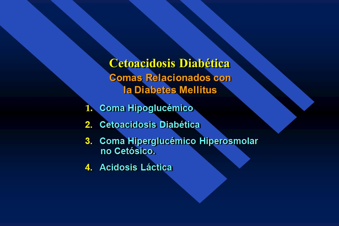 Cetoacidosis Diabética Comas Relacionados con