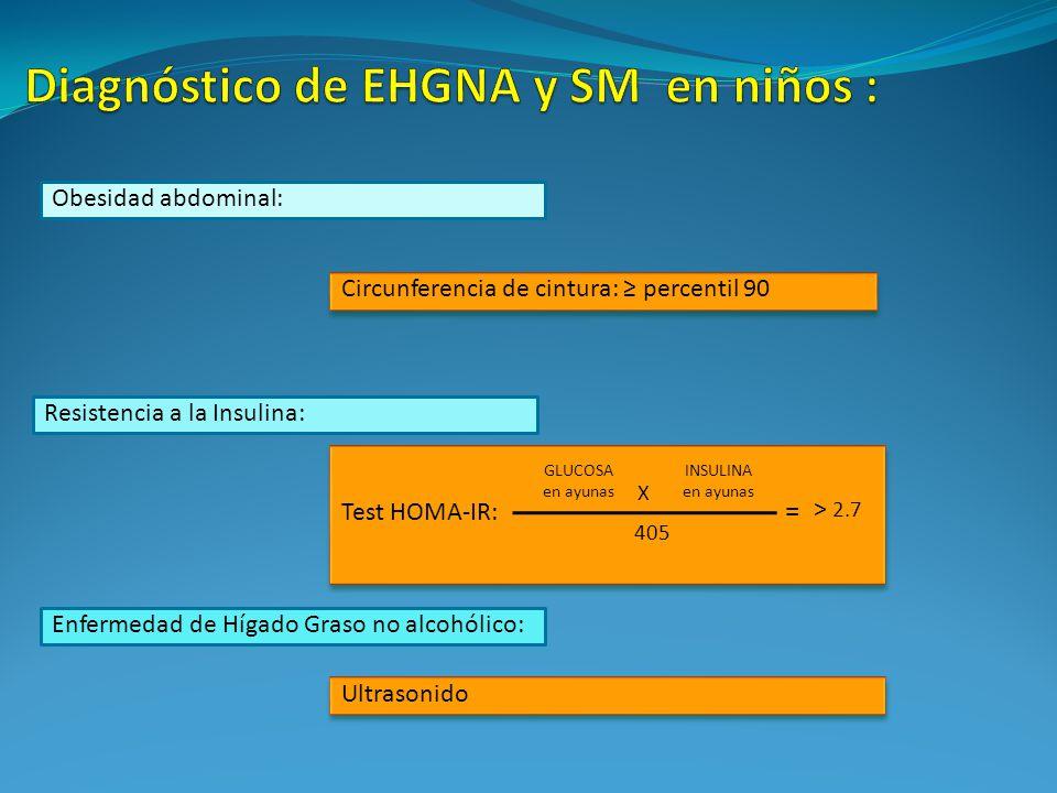 Diagnóstico de EHGNA y SM en niños :
