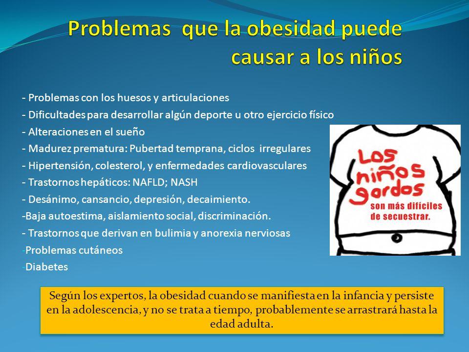 Problemas que la obesidad puede causar a los niños