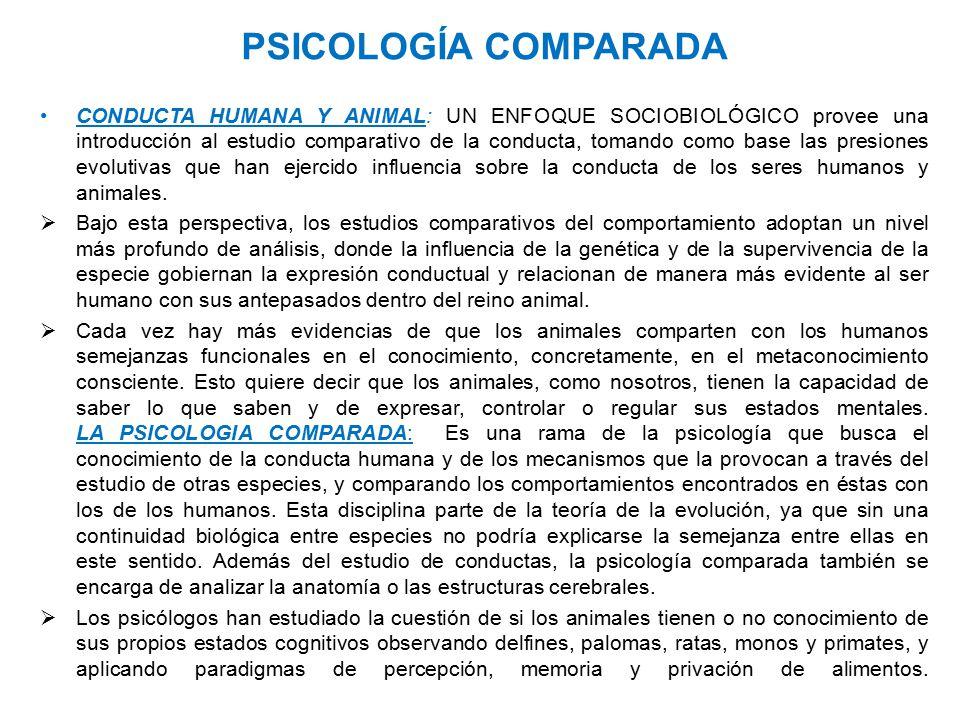 PSICOLOGÍA COMPARADA