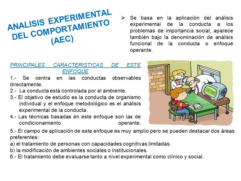 ANALISIS EXPERIMENTAL DEL COMPORTAMIENTO (AEC)