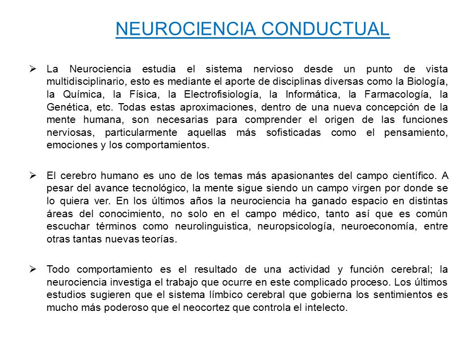 NEUROCIENCIA CONDUCTUAL