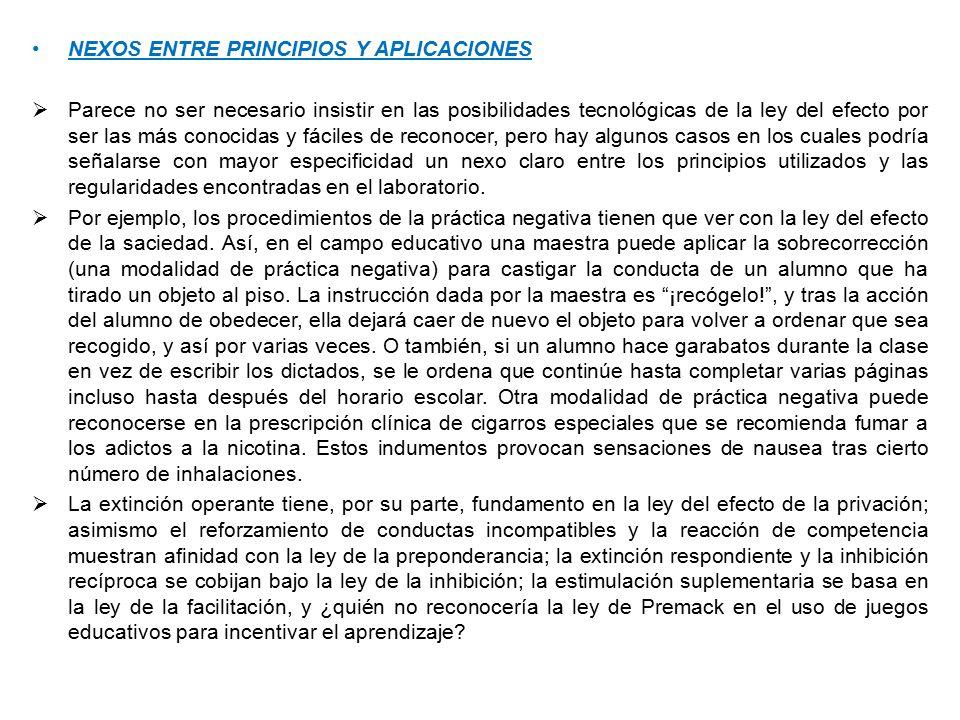 NEXOS ENTRE PRINCIPIOS Y APLICACIONES
