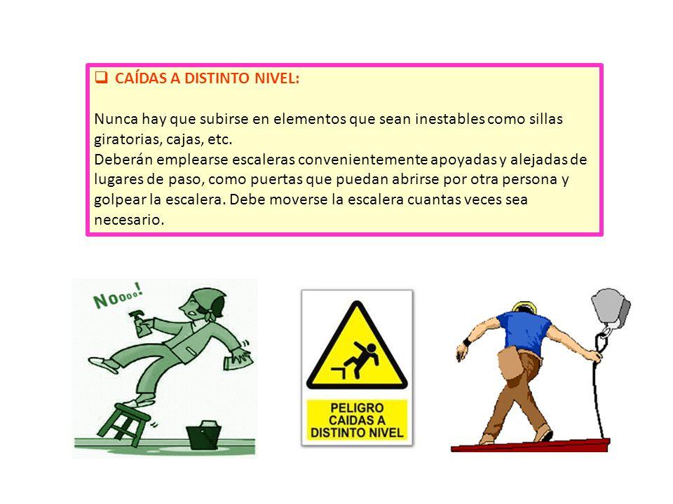 CAÍDAS A DISTINTO NIVEL: