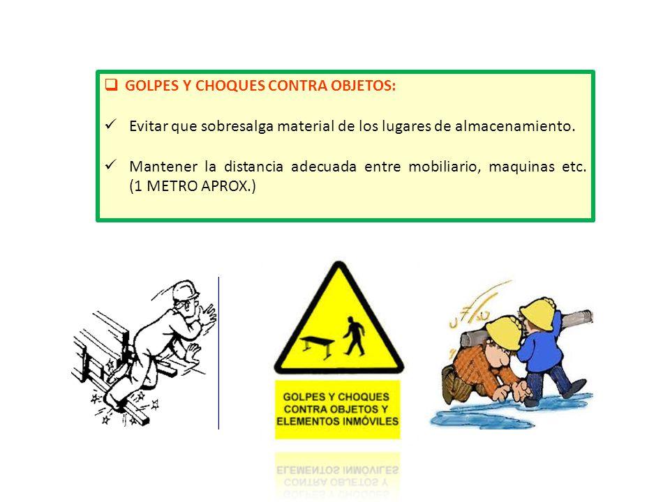 GOLPES Y CHOQUES CONTRA OBJETOS: