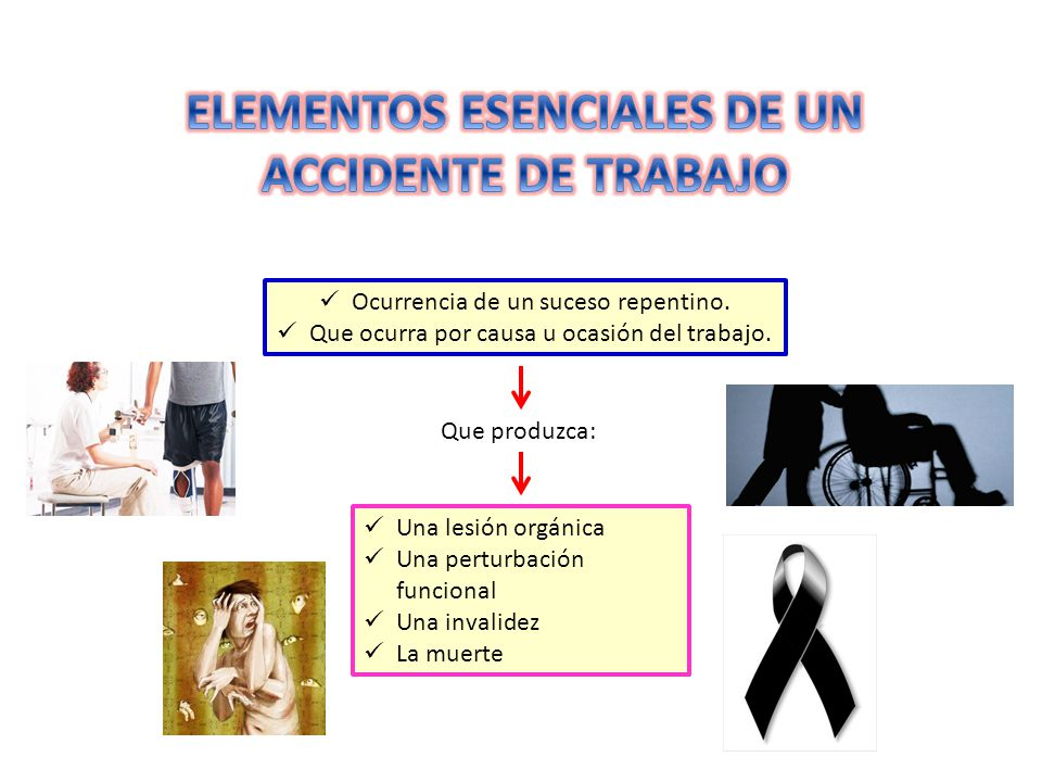 ELEMENTOS ESENCIALES DE UN ACCIDENTE DE TRABAJO