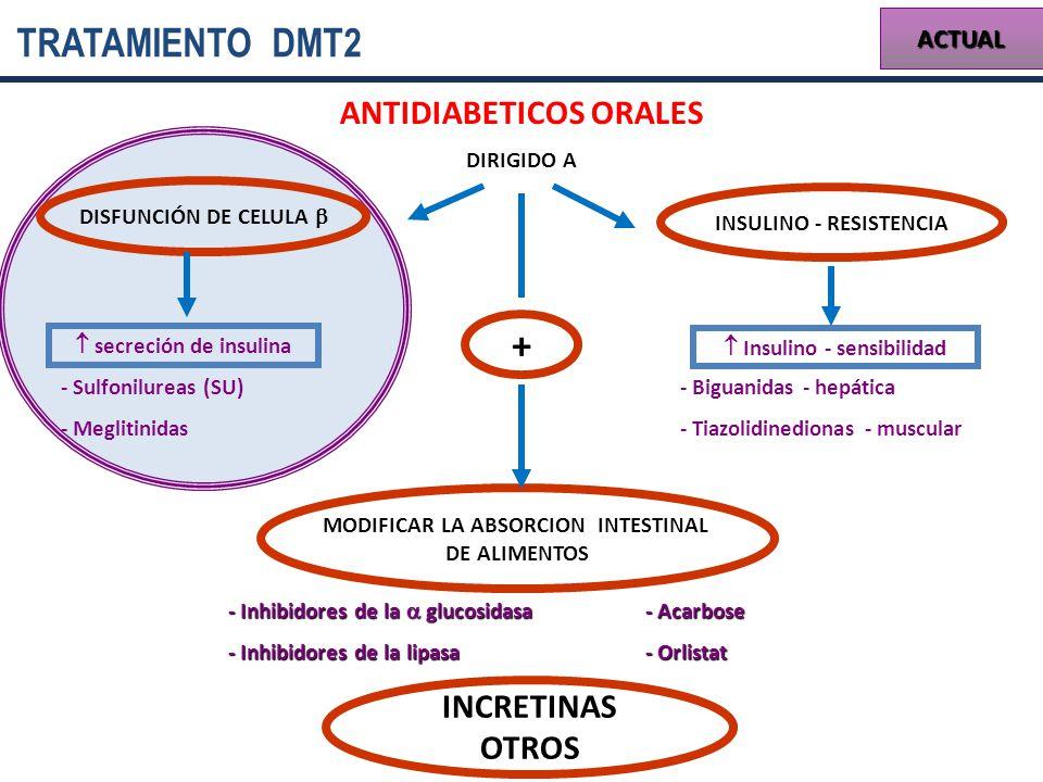 TRATAMIENTO DMT2 + ANTIDIABETICOS ORALES INCRETINAS OTROS ACTUAL