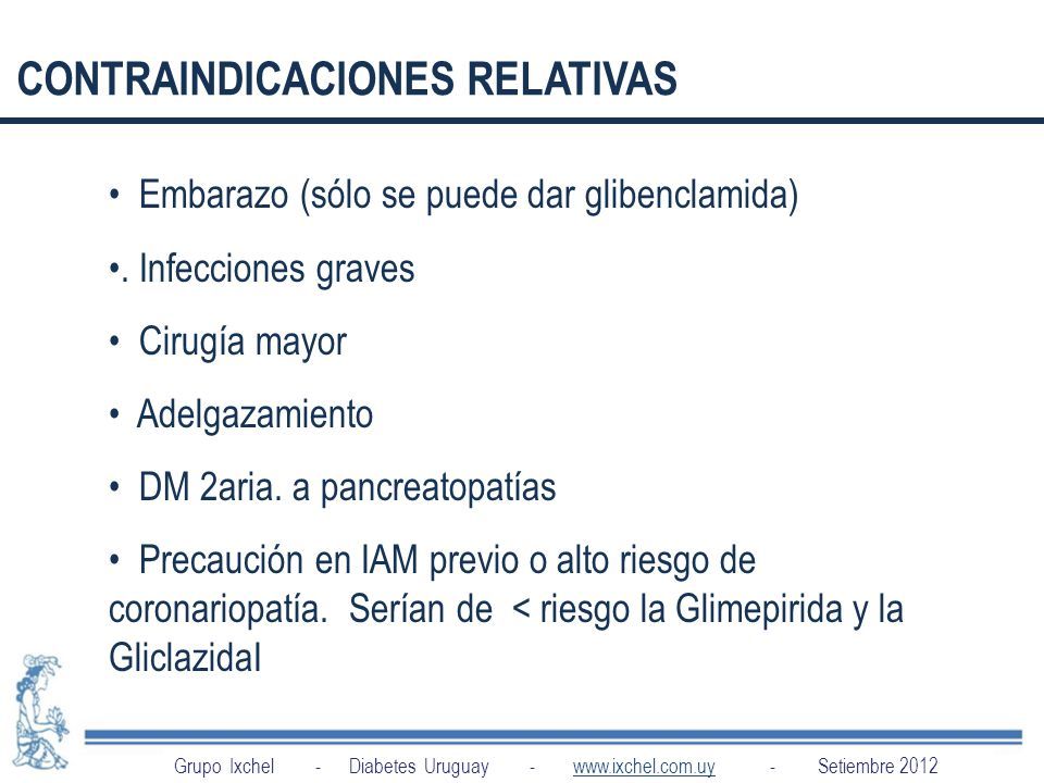 INDICACIONES CONTRAINDICACIONES RELATIVAS